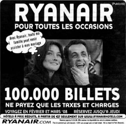 Sarkozy Bruni Ryanair