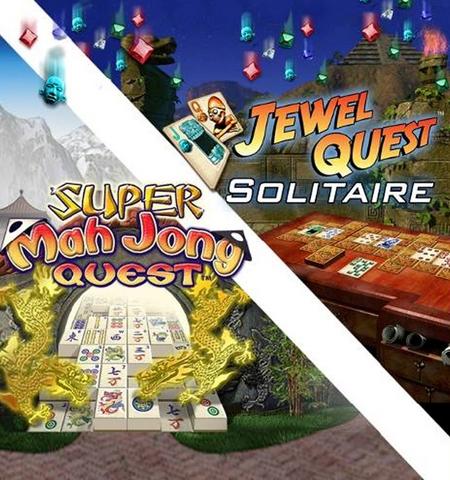 Super Mah Jong Quest & Jewel Quest Solitaire