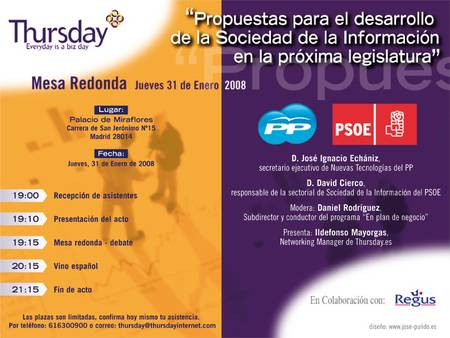 thursday PP PSOE