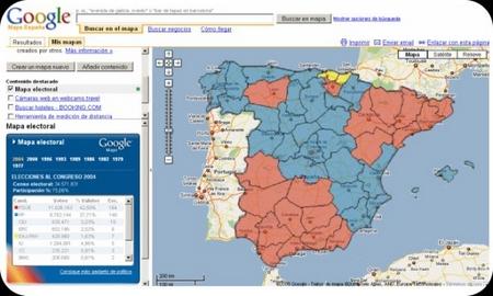 google Maps elecciones