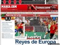 Asi vio la prensa el  triunfo de España en la Euro 2008