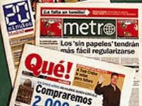 Los diarios gratuitos españoles se van de vacaciones