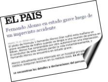 Noticia sobre un falso accidente de Fernando Alonso está siendo usada para distribuir un troyano bancario