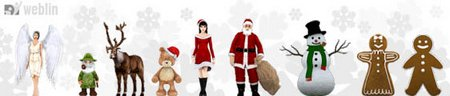 Avatares navideños navidades virtuales y nuevos trivial del weblin