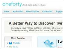 Oneforty, la &#8216;AppStore&#8217; no oficial de Twitter