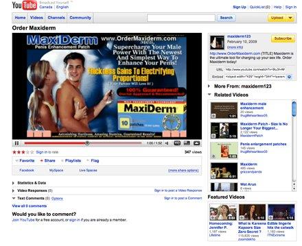 video spam