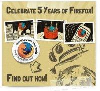 Firefox celebra sus cinco primeros años de existencia