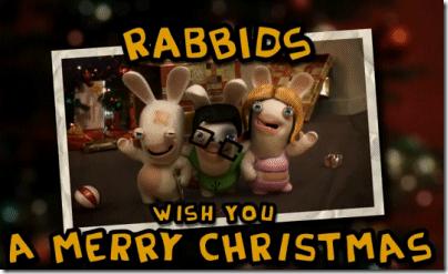 Los Rabbids nos desean felices fiestas