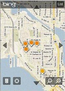 Bing añade búsquedas locales a su versión móvil