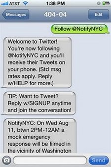 Twitter estrena un seguimiento rpido por SMS sin necesidad de registro