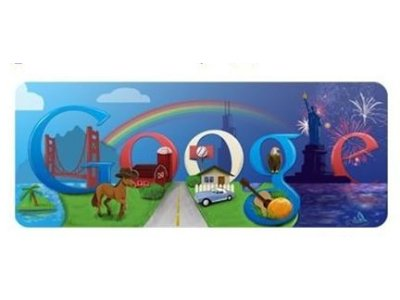google doodle 4 de julio