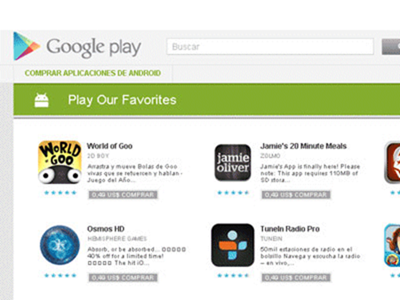 Google Play supera en descargas a la App Store