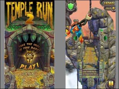 """""""Temple Run 2"""" logra 20 millones de descargas en iOS en sólo cuatro días"""
