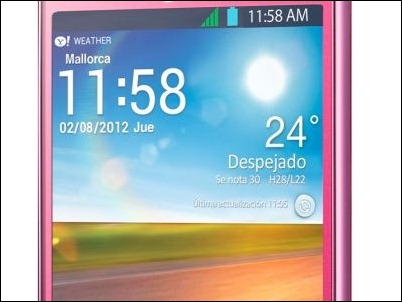 LG viste de rosa el Optimus L5