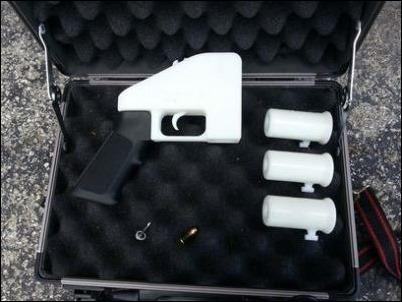 Fabrican arma de fuego con impresora 3D