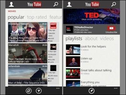 Google vuelve a bloquear la aplicación YouTube de Windows Phone