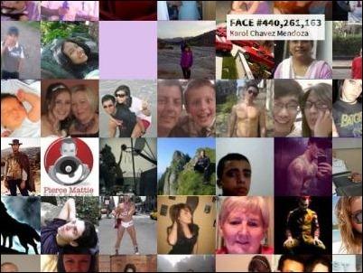 1,262 millones de fotos de perfiles de Facebook en una misma imagen