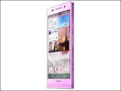 El Smartphone Huawei Ascend P6 llegan en color rosa