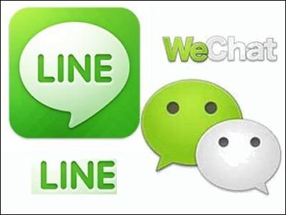 line-wechat