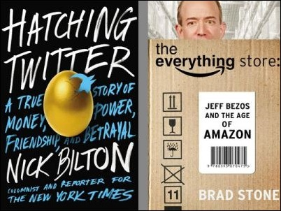 Nuevos libros revelan los secretos de Twitter y Amazon