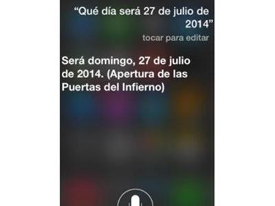 Siri prevé la apertura de las puertas del infierno el 27 de julio - Economiza