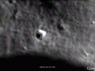 Descubren 'nave espacial' en la Luna a través de Google Moon