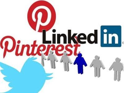 LinkedIn, Pinterest son más populares que Twitter