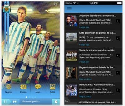 App oficial de la Selección Argentina de Fútbol para iOS y Android