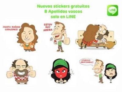 """Nuevos stickers: Los personajes de """"Ocho apellidos vascos"""" te esperan en LINE"""