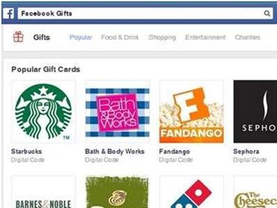 Facebook cierra definitivamente su servicio web de regalos