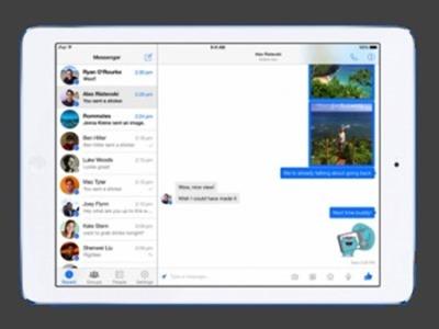 Facebook Messenger llega finalmente a los iPad