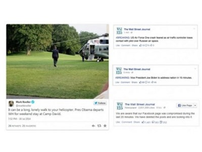 Hackearon la cuenta de Twitter de The Wall Street Journal y difunden noticia falsa de accidente de Obama