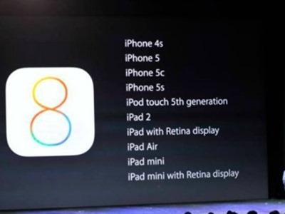 iOS 8 llegará el 17 de septiembre