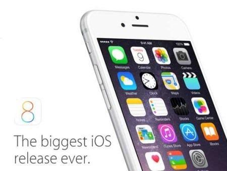 Apple lanza la primera gran actualización para  iOS 8