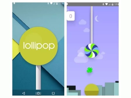 Android 5.0 Lollipop esconde una versión de Flappy Bird