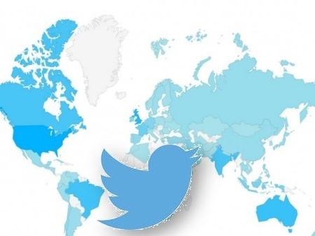 El mapa de los usuarios de Twitter, país por país