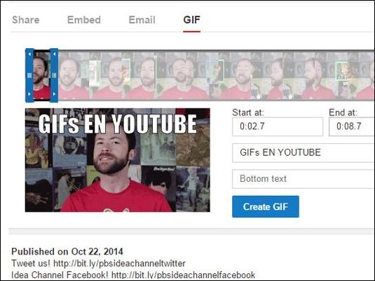 YouTube incorpora herramienta para crear GIFs de tus videos