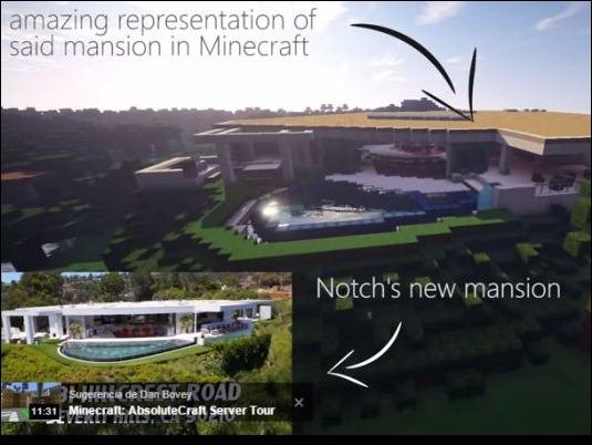Recrean al estilo Minecraft la mansión del creador del videojuego