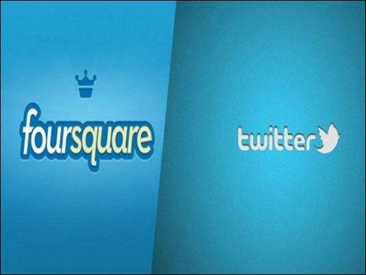 """Twitter prepara alianza con Foursquare para mandarte """"tuits cercano"""""""