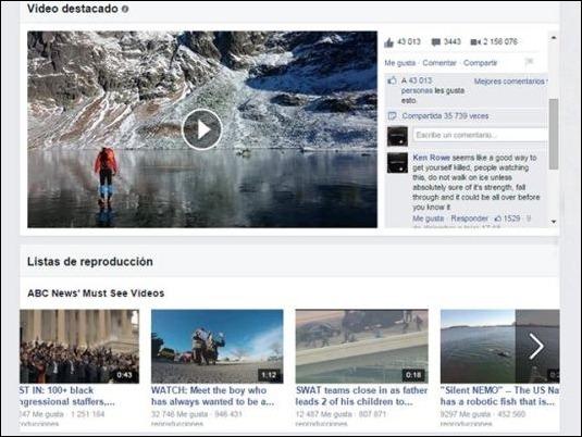 Facebook reta a YouTube con rediseño de su sección de videos