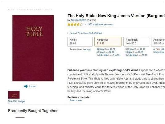 Amazon varió el precio de la biblia casi 100 veces en los últimos cinco años