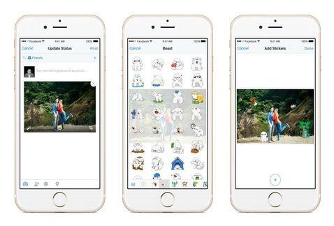 Facebook lanza app para subir fotos con Stickers
