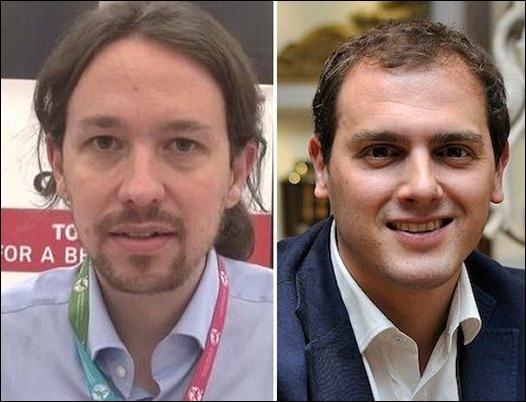 Albert Rivera amenaza el liderato de Pablo Iglesias en Internet