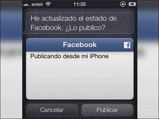 ¿Cómo publicar en Facebook usando Siri?