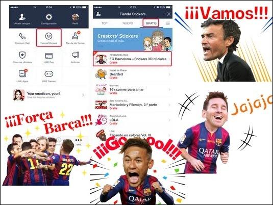 Los jugadores del F.C. Barcelona se convierten en stickers de LINE