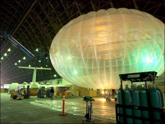Asi son los globos de Google para llevar Internet a todo el mundo.