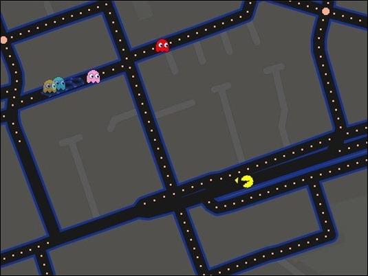Ahora se puede jugar Pac-Man en los mapas de Google Maps