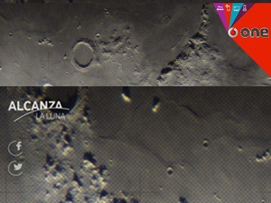 Vodafone España te invita a ver la Luna en directo
