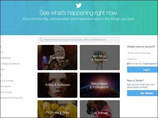 Twitter estrena nuevo diseño  pensado para quienes aún no son usuarios