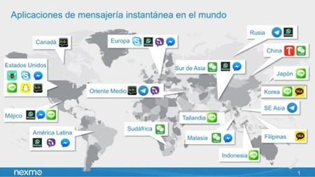 Mapa Chat Apps